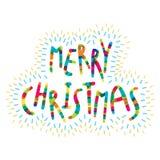 Merry christmas greeting card design Stock Photo