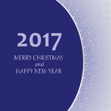 2017 MERRY CHRISTMAS. Greeting card. Design greetings, greeting cards, poster, banner vector illustration