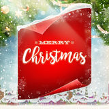 Merry Christmas greeting card. EPS 10 Stock Photo