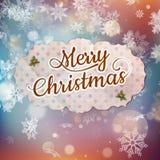 Merry Christmas greeting card. EPS 10 Stock Photo