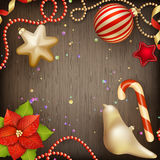 Merry Christmas greeting card. EPS 10 Royalty Free Stock Photo