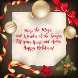Merry Christmas greeting card. EPS 10 Stock Photography