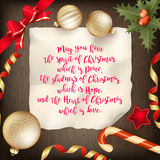 Merry Christmas greeting card. EPS 10 Stock Image