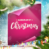 Merry Christmas greeting card. EPS 10 Royalty Free Stock Image