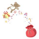 Merry Christmas Greeting Card Gift Vector. Illustration Vector Illustration
