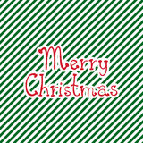 Merry christmas greeting card. With hand drawing phrase `Merry christmas` on striped background Stock Images