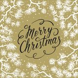 Merry Christmas greeting card. Royalty Free Stock Photography