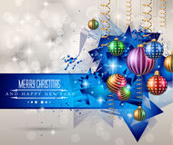 Merry Christmas Greeting Card. For happy Holidays and new year flyers Royalty Free Illustration