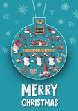 Merry Christmas Greeting Card Stock Photos