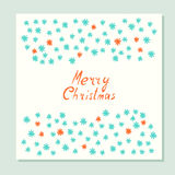 Merry Christmas. Greeting card with holidays symbols. Royalty Free Stock Image