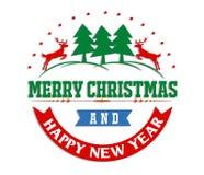 Merry christmas greeting card  illustration. Merry christmas greeting card Royalty Free Stock Image