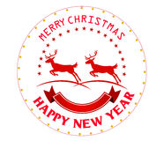 Merry christmas greeting card  illustration. Merry christmas greeting card Royalty Free Stock Photos