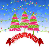 Merry christmas greeting card  illustration. Merry christmas greeting card Royalty Free Stock Photo