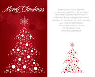 Merry christmas greeting card illustration Stock Photography
