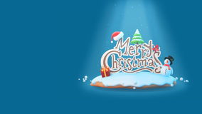 Merry Christmas Greeting card intro template. stock footage