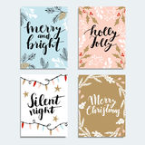 Merry Christmas greeting card, invitation. royalty free illustration