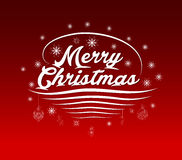 Merry Christmas Greeting Card, lettering Stock Photos