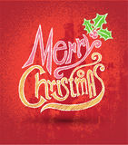 Merry christmas greeting card lettering. Stock Photo