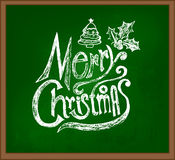 Merry christmas greeting card lettering. Royalty Free Stock Photos