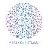 Merry christmas greeting cards design Stock Photos