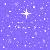 Merry Christmas greeting card. Seamless pattern element for cover, print, web, wrapping. Vector illustration Stock Photos