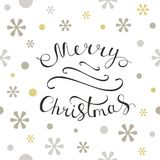 Merry Christmas greeting card. Seamless pattern element for cover, print, web, wrapping. Vector illustration Stock Image