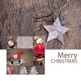Merry Christmas Greeting Card Nature Stock Photo