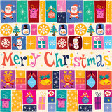 Merry Christmas greeting card. Nice Merry Christmas greeting card retro style stock illustration