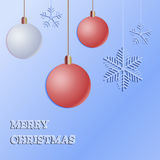Merry Christmas Greeting Card - paper cut style - in vector. Stock Photos