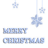 Merry Christmas Greeting Card - paper cut style - in vector. Stock Image