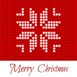 Merry Christmas. Greeting card. Pattern of polka dots, white snowflake on a red background. For Web, Websites, Print, Mobile Applications And Promotional Royalty Free Illustration