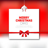 Merry Christmas greeting card  red backgronud Royalty Free Stock Images