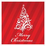 Merry christmas  greeting card red color Stock Image