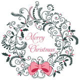 Merry Christmas Greeting Card stock illustration