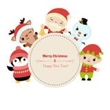 Merry Christmas greeting card royalty free illustration