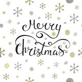 Merry Christmas greeting card. Seamless pattern element for cover, print, web, wrapping. Vector illustration Royalty Free Stock Photo