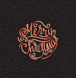 Merry Christmas greeting card. Season vector holiday poster template. Handwritten text. vector illustration