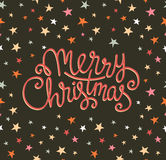 Merry Christmas greeting card. Season vector holiday poster template. Royalty Free Stock Image