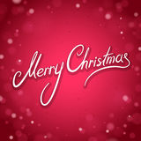 Merry Christmas Greeting Card with Shine Red Background Royalty Free Stock Photo