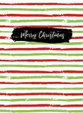 Merry Christmas greeting card, sketchbook cover Stock Images