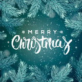 Merry Christmas greeting card Royalty Free Stock Photos