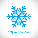 Merry Christmas greeting card. Merry Christmas card with snowflake Royalty Free Stock Photography