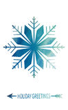 Merry Christmas Greeting Card. With snowflake. Winter holiday design. Vector illustration stock illustration
