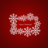 Merry Christmas Greeting Card with snowflakes, vector illustrati. On Stock Photo