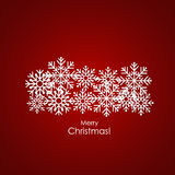Merry Christmas Greeting Card with snowflakes, vector illustrati. On Stock Photos