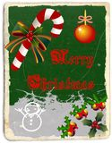 MErry Christmas greeting card with sugar cane Royalty Free Stock Photography