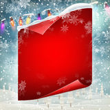 Merry Christmas greeting card template. EPS 10 Royalty Free Stock Image