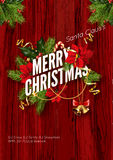 Merry Christmas greeting card template. Royalty Free Stock Images