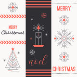Merry Christmas greeting card template Royalty Free Stock Photography
