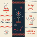 Merry Christmas greeting card template Royalty Free Stock Image